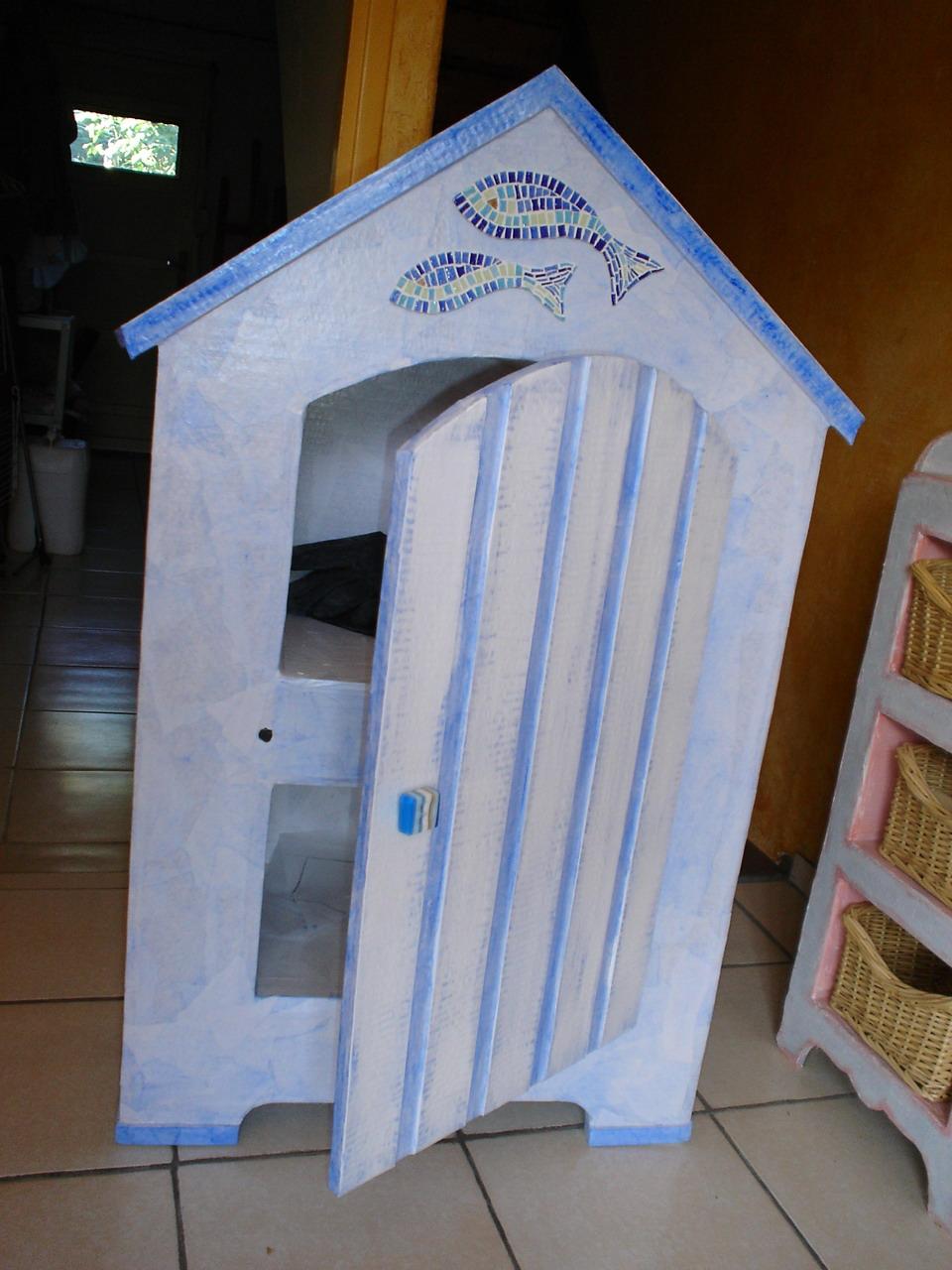 La coccinelle ecolo for Meuble cabine de plage